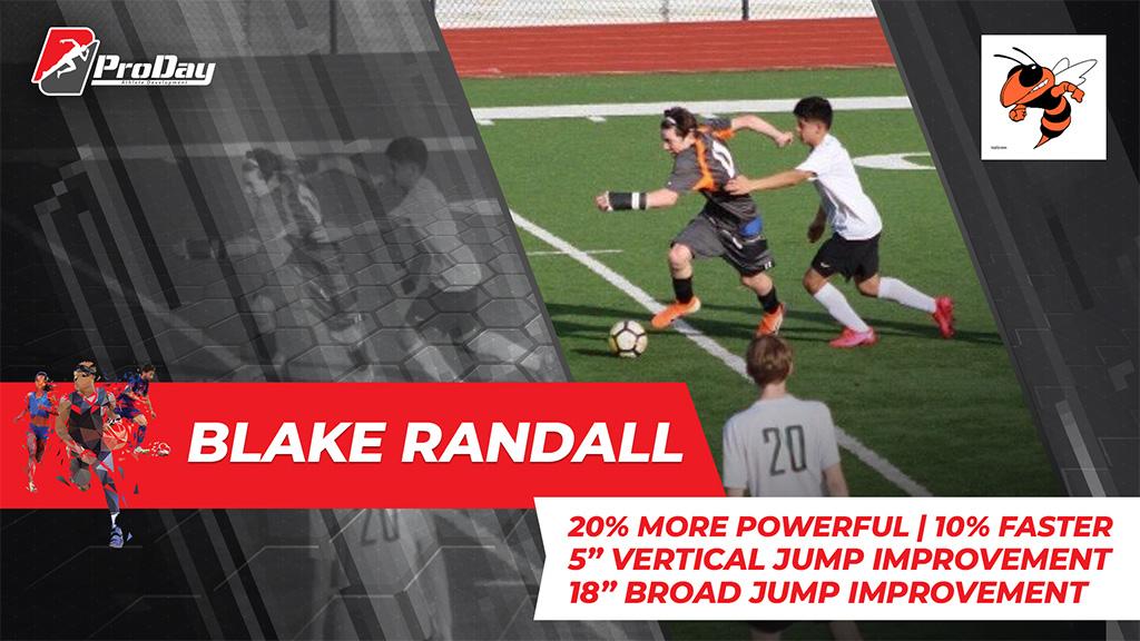 Poster Athelete Improvement Blake Randall Version 3 Pro Day Sports
