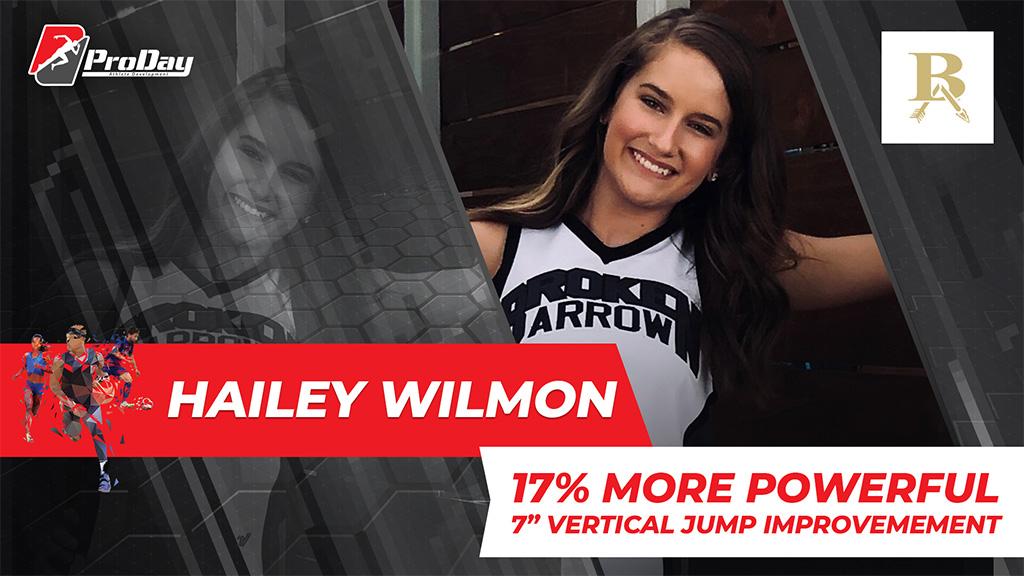 Poster Athelete Improvement Hailey Wilmon Version 3 Pro Day Sports